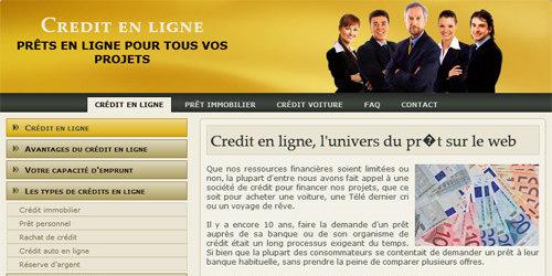 Société de crédit en ligne
